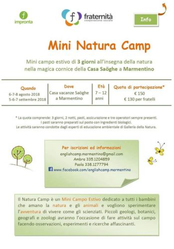 Natura Camp - Campo estivo a Marmentino
